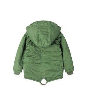 Image 2 - ボーイズ冬のジャケット十代子羊カシミヤウインドブレーカー赤ちゃんカジュアル服子供トップス 2 9 T 厚みのフード付きベルベットジャケットコート