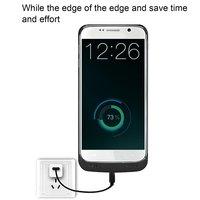 Taşınabilir Boyutu 4200 MAH Harici Pil Şarj Durum Yedek Cep Telefonu Pil Şarj Cihazı Kutu samsung Galaxy S6