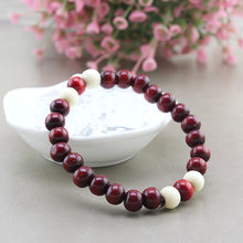 2018 new Ethnic style series of colors wooden bead stretch bracelet lap small beads jewelry special wholesale for women and men(China)