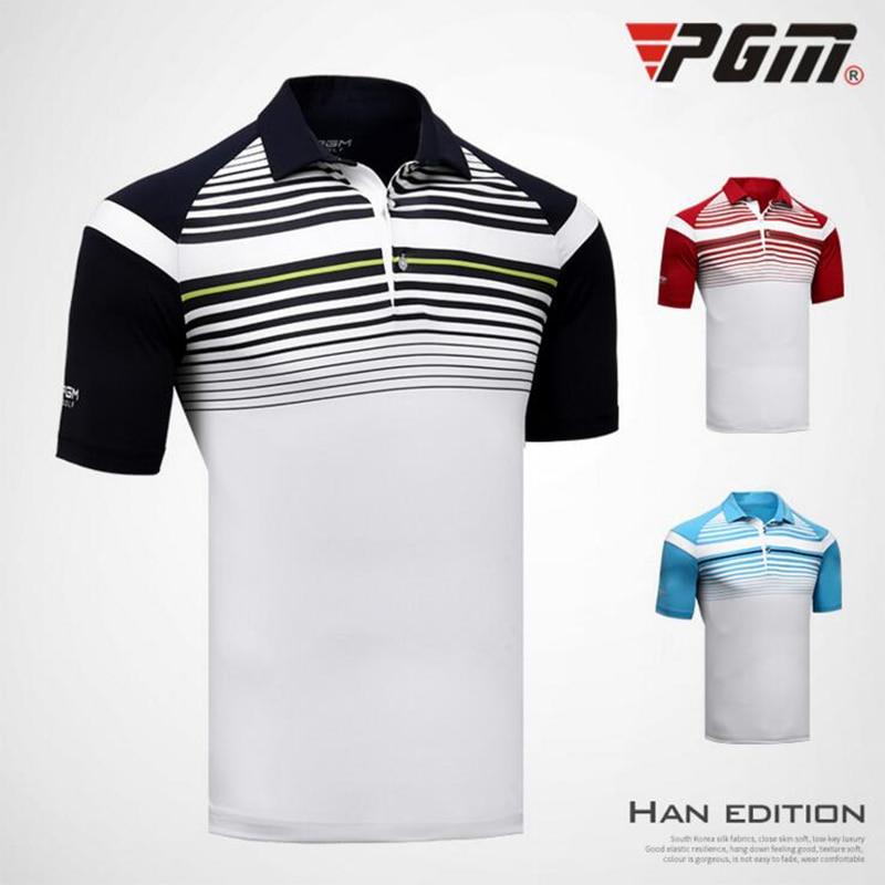 PGM Brand quality Golf Shirt Men Sports POLO shirt Turn-down Collar Jersey Anti sweat comfortable Good elastic 2018 Summer shirt