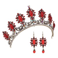 Luxurious Vintage Wedding Queen Princess Large Rhinestone Crowns And Tiaras Pageant Prom Bridal Crystal Hair Accessories