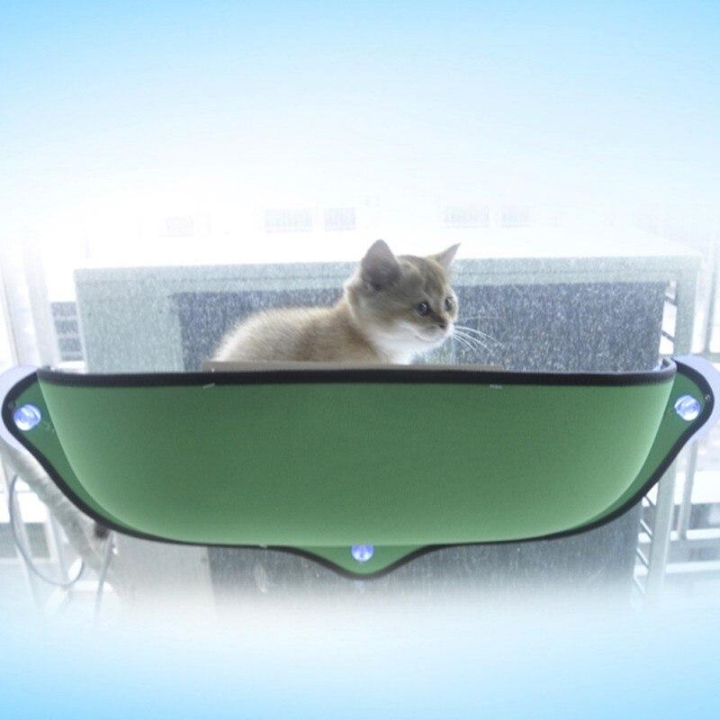 Extraíble gato Sunbathing hamaca cama para ventana Color sólido tumbona estante colgante sofá asiento para el resto del gato casa jaula