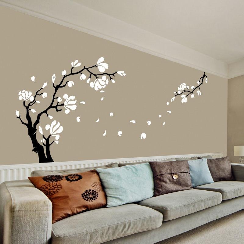 Tree Wall Art Stickers popular magnolia tree wall decal-buy cheap magnolia tree wall