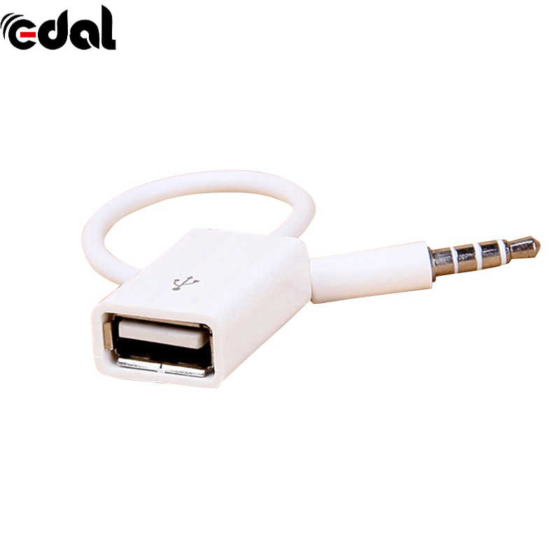 Universal AUX Audio Plug untuk USB 2.0 Converter USB AUX Kabel untuk Mobil MP3 Speaker U Disk USB Flash drive Aksesoris