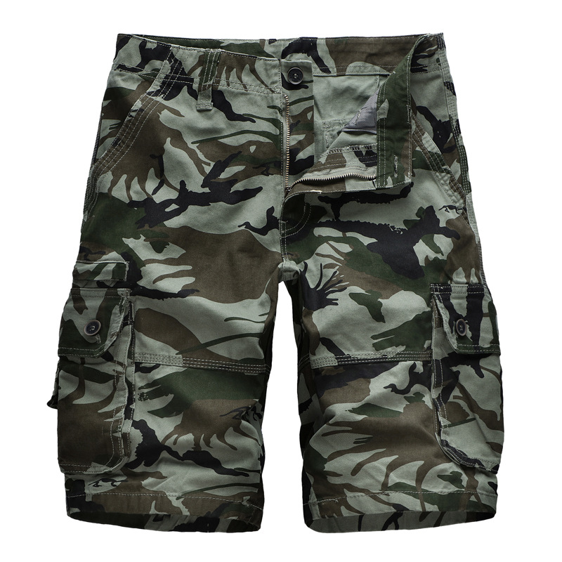 Camouflage Camo Cargo Shorts Men 2019 Summer Casual Shorts Male Loose Work Shorts Man Military Short Pants Plus Size
