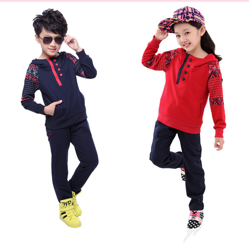 2016 Brand Boy Girl Sport Clothing Set for Autumn Spring Long Sleeve+ Pants Clothes Set Kid School Print Clothes Set Hot Sale 2016 brand kid print striped clothing set for autumn spring boy girl sport school clothing set kid fashion clothes hot sale
