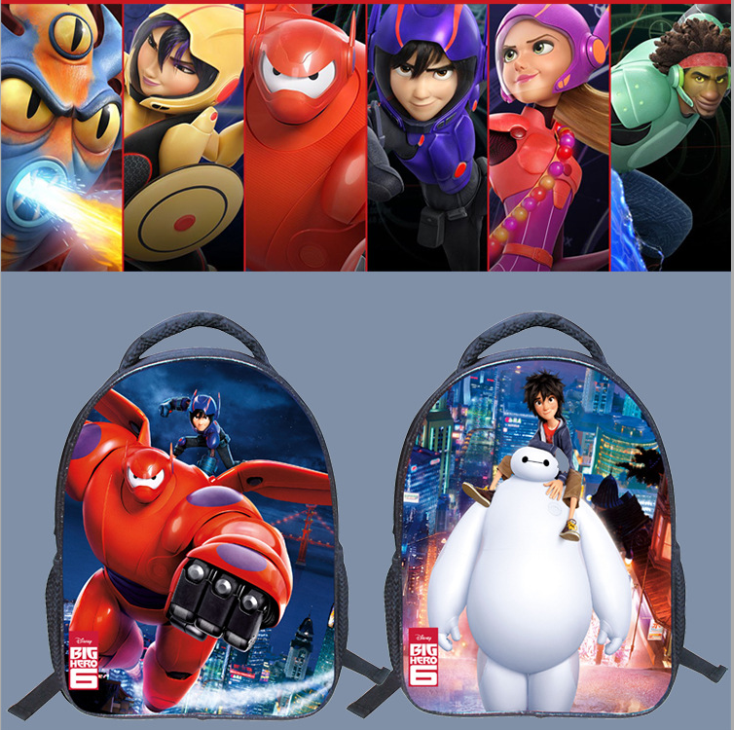 13 Inch Kids Backpack Big Hero 6 Baymax Kindergarten Shoulder Bag Cartoon Printing School Bags For Kids Children Mochila Infant forudesigns cute cartoon winx club girls school bags small children book bag for kindergarten women shoulder bag kids mochila