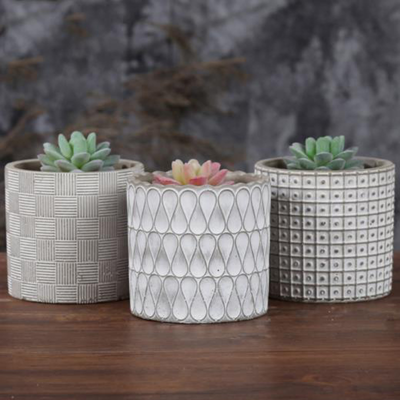 Cylinder concrete planter silicone mold home decoration for Craft cement mix
