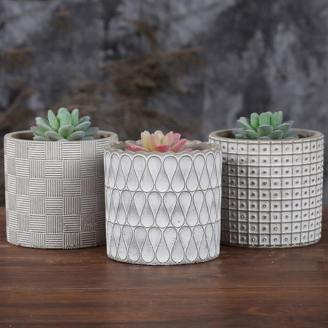 Cylinder Concrete Planter Silicone Mold Home Decoration Craft
