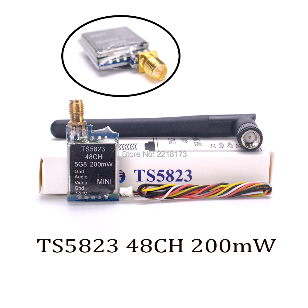 Mini 5.8G TS5823 48CH 48 Channels 200mW Wireless AV