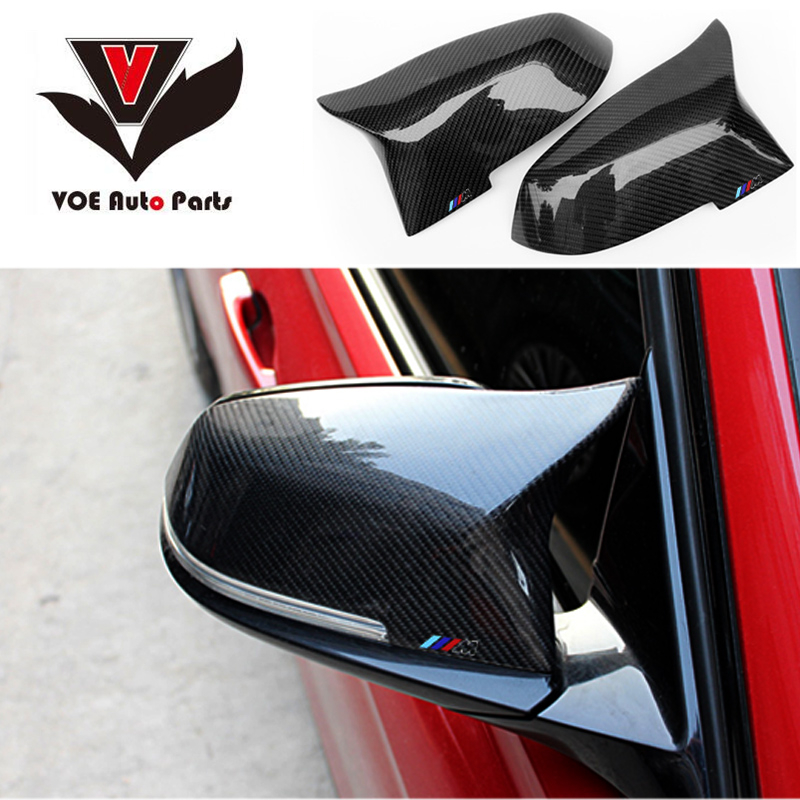 M Look+///M LOGO 2014-2016 Replacement Carbon Fiber Rearview Side Mirror Covers for BMW 5 6 7 Series F10 F06 F12 520i 528i 535i