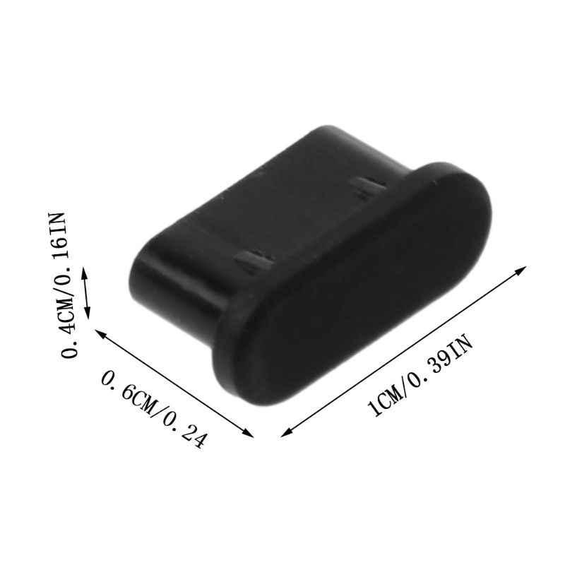 5 sztuk typu C wtyczka pyłu Port USB do ładowania Protector pokrywa silikonowa dla Samsung Huawei akcesoria do smartfonów