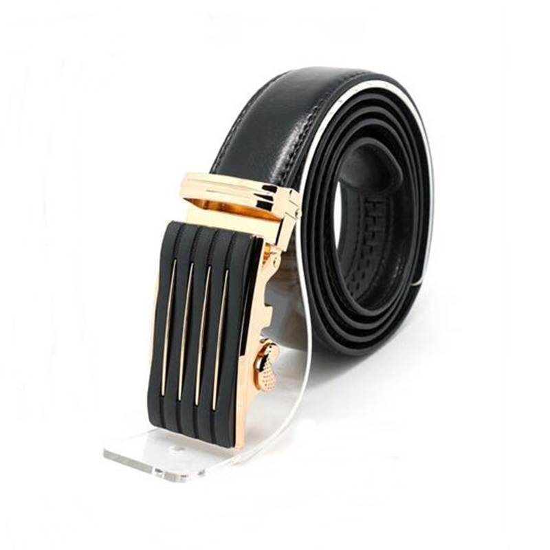 upscale men s leather belt Administrative leather Automatic buckle belt With 32 species cow split leather