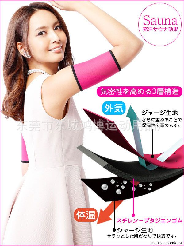Arm Sleeve Shape Butterfly Arm Guards Fatty Sheath Thin Arms Set