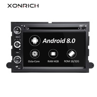 Xonrich 2 Din Android 8.0 Car DVD Player For Ford F150 F350 F450 F550 F250 2004 2008Fusion Expedition Mustang Explorer EdgeRadio