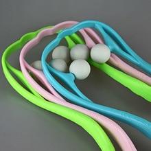 Массаж шеи Инструмент Давление снять рук-роликовый массаж шеи, плеч двойной триггерный для самомассажа