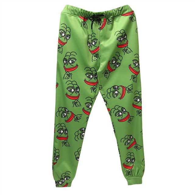 Men/Women Cartoon Sweatpants Trousers Elastic Waist
