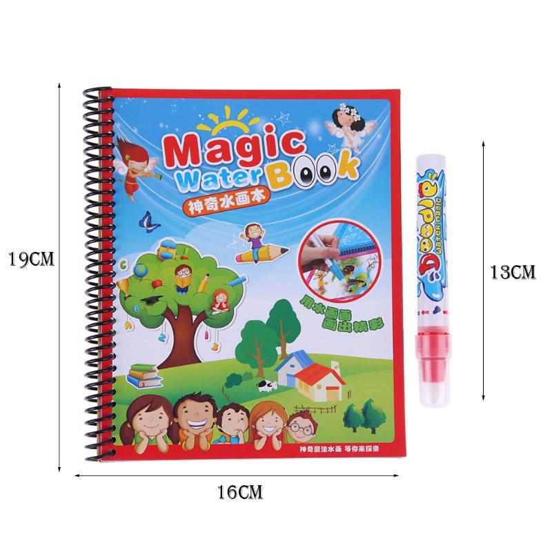Cartoon Patterns Drawing Album Water Paint Coloring Book with Magic ...