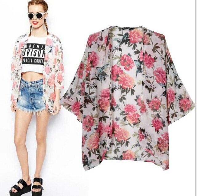 livraison gratuite blusas 2015 femmes swag za marque chemisier en mousseline de soie floral. Black Bedroom Furniture Sets. Home Design Ideas