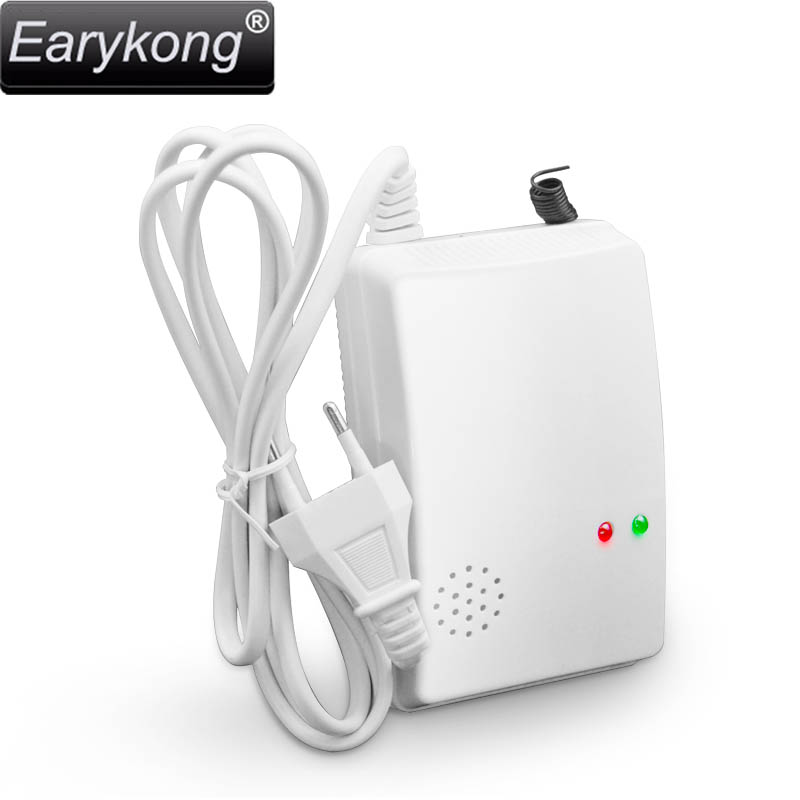 Nouveau Earykong 433 MHz Sans Fil Détecteur De Fuite De Gaz Pour La Maison Système D'alarme Antivol, pour GSM Système D'alarme, pour G90B wifi alarmes