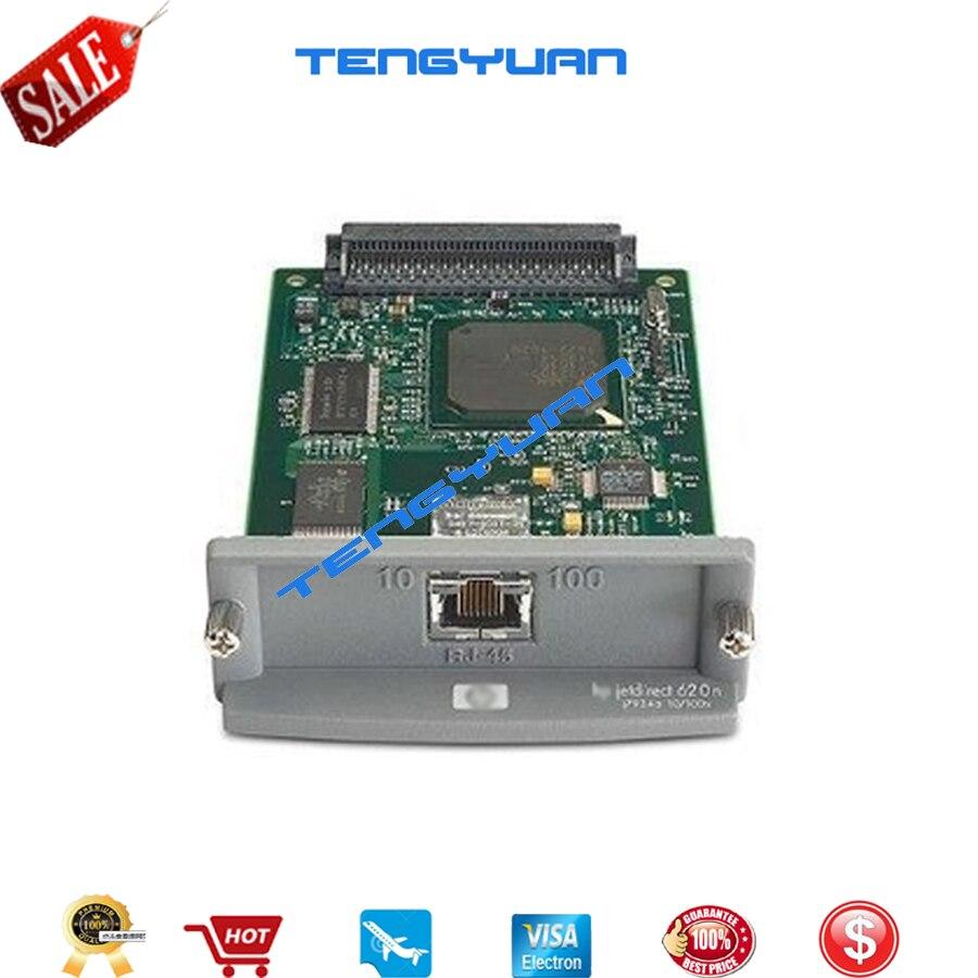 Original JetDirect 620N J7934A/J7934G Ethernet Placa de Rede Do Servidor de Impressão Interno para hp laserjet e DesignJet de impressora Plotter