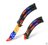 CSGO cosplay knives butterfly knife toys training folding balisong CF GAME TOYS