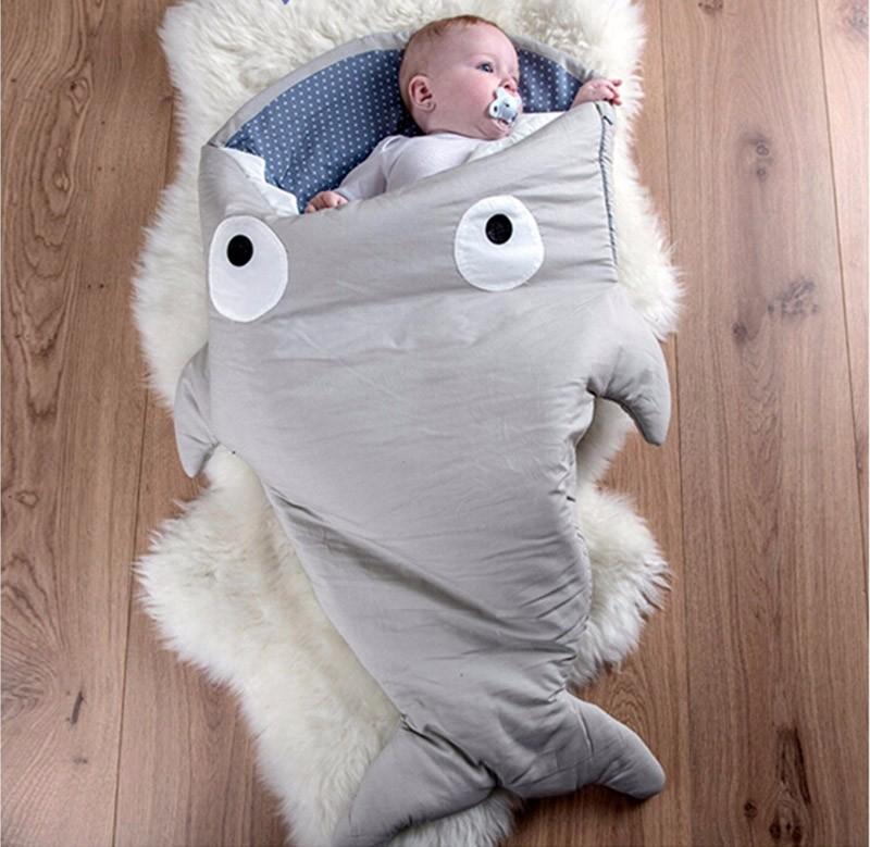 Retail-Cartoon-shark-sleeping-bags-newborn-baby-carriage-winter-bedding-warm-pretty-Sleepsacks-cotton-soft-Sleepsacks (1)