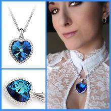 Голубое сердце океана Любовь Подарки Чокеры ожерелья и подвески для женщин Новинка подростковые девушки очаровательные модные ювелирные изделия