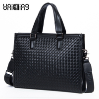 2 Dan Jue Genuine Cowhide Handbag Korean Weave Pattern Laptop Bag Men S Bags Wholesale
