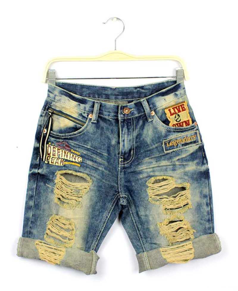 Women's ripped denim shorts – Global fashion jeans collection