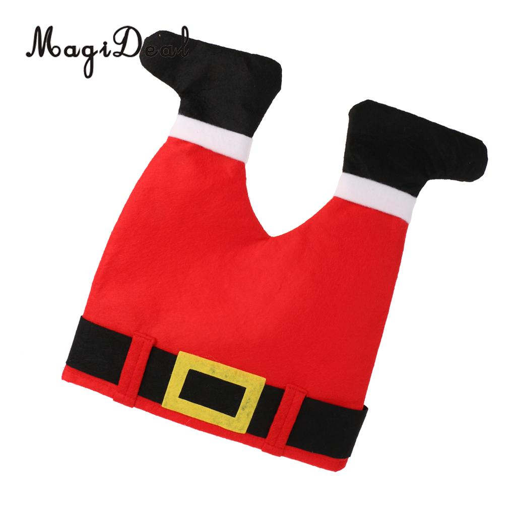 Novelty Christmas Santa Hat Kids Adult Xmas Fancy Dress Pants Style Gift Cap