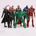 7 unids The Avengers Iron Man Aciton Figura Modelo Juguetes Capitán América Thor Hulk Viuda Negro Niños Regalos Colecciones 6 pulgadas