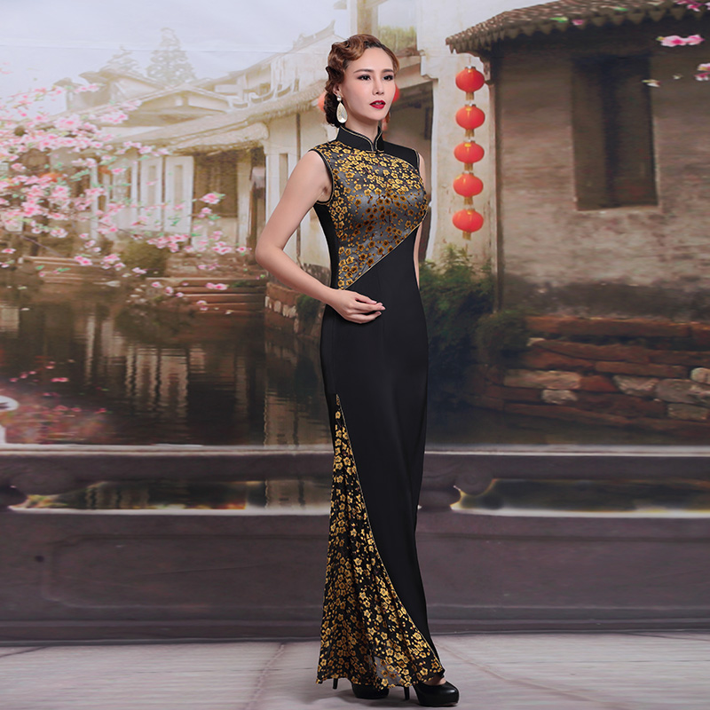 df8142d70 China Quality Evening Dresses Embroidery Flowers Qipao Vintage Sexy herve  leger bandage dress Cheongsam Dresses Prom dress A1182-in Evening Dresses  from ...