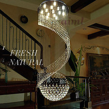 Modern Crystal Chandelier Pendant Lighting Hanging Ceiling Lamps Fixtures with LED Source Clear K9 Crystal led crystal pendant light contemporary hanging lamps fixtures with l80cm w80cm h110cm ac 100 240v kingdom lighting