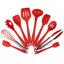 10pcs Set Of Non-Stick Kitchenware Silicone Heat Resistant Kitchen Cooking Utensils Baking Tool Cooking Tool Sets