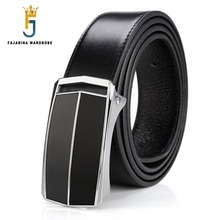 FAJARINA High Quality Genuine Leather Cowskin Belts Strap Male Jeans Cowhide Black Belt Cummerbunds for Men New Design LUFJ319A