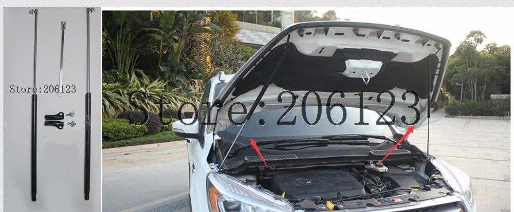 2013 2014 2015 עבור פורד Kuga בריחה אביזרי רכב מצנפת הוד גז הלם יתד תמיכת רכב סטיילינג