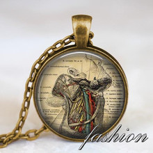 Human Anatomy necklace , Throat anatomy pendant , gothic jewelry, doctor, science student gift biology student medical gift idea