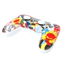 Gamepad Protection Soft Camouflage Guards Grip Cover + 2 Caps For PS4 Controller-Y1QA