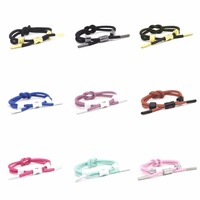 5 PCS Fashion Style 11 Color Rope Knot Bracelet Personality 3MM Shoelaces Hand Stamped Bracelet Women