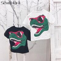 316b4a53b Kids Clothes Girls Tops T Shirt For Boy Summer Tee Cartoon Cotton Dinosaur  Head Short Sleeve