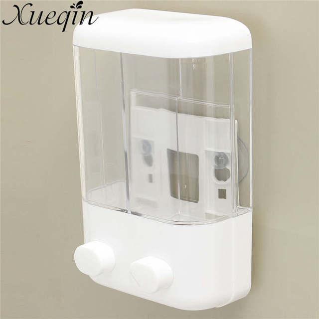 2 Size For Choice Manual Pressure Wall Mounted Liquid Soap Dispensers Home Bathroom Hotel Shower Shampoo
