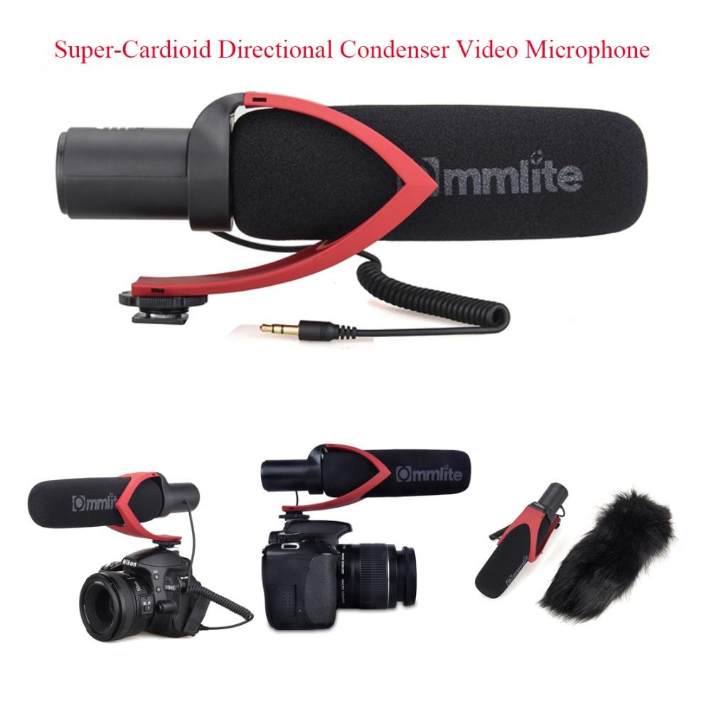 Commlite CVM-V30 Super-Cardioid Directional Condenser Shotgun Video Microphone for Video Interview Camera Camcorder Black / RedCommlite CVM-V30 Super-Cardioid Directional Condenser Shotgun Video Microphone for Video Interview Camera Camcorder Black / Red