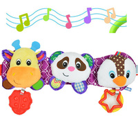 SOZZY Melody Music Light Baby Toys Sound Rattles Children Hanging Strollers Car Ring Deer Panda Penguin