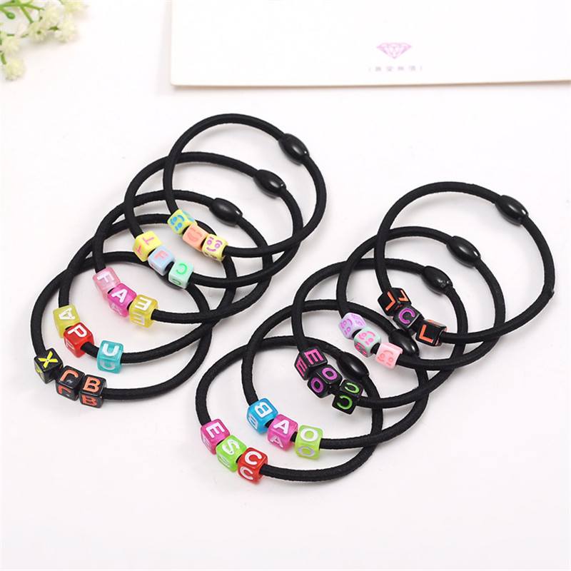 2017 New Children Hot Korean Headband Letter Smile Elastic Hair Band Accessories Women Girls Ponytail Holders Clip Gift 10pcs hot sell free shipping seraph of the end krul tepes pink long clip ponytail cosplay party wig hair