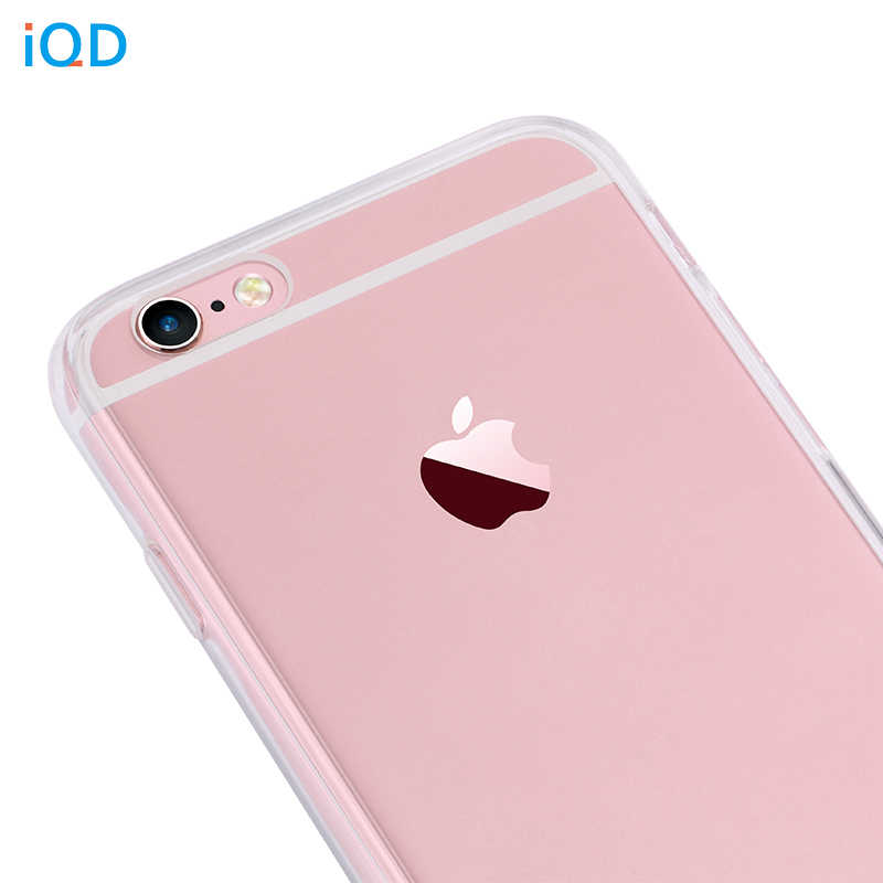 IQD Apple の Iphone 5 × 6 6s 7 8 プラス Tpu カバースリムクリスタルシリコン保護透明フィットケースハード XS 最大