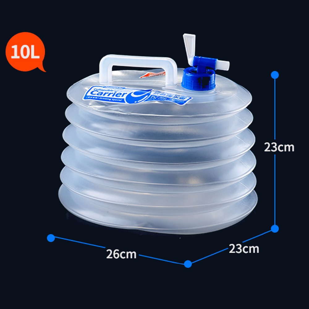 Image 5 - NatureHike 5/10/15L Large Capacity Outdoor Water Bag Hiking Portable Container Foldable Camping Water Tank Durable Bucket Kettle-in Water Bags from Sports & Entertainment