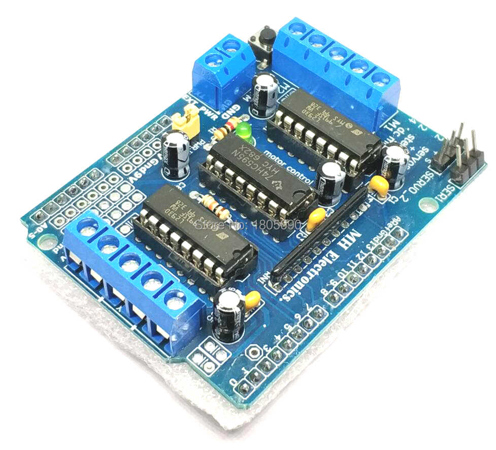 L293D 4-Channel Stepper Motor Driver Board Control Shield Module Motor Drive Expansion Board 4.5-36V DC Mega2560 New original