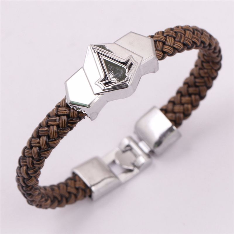 Assassins Creed Braided Leather Bracelet