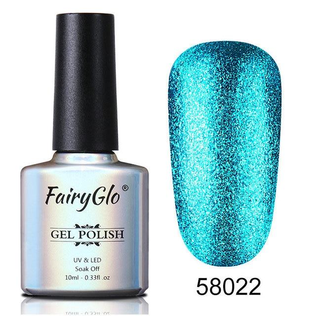 FairyGlo vernis à ongles 10ML Bling UV lampe à LED Gel vernis à ongles longue dernière peinture Gellak hybride Gel vernis platine chanceux laque colle